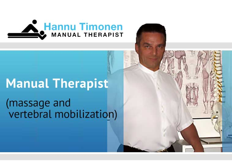 Manual Therapist - massage and vertebral mobilization