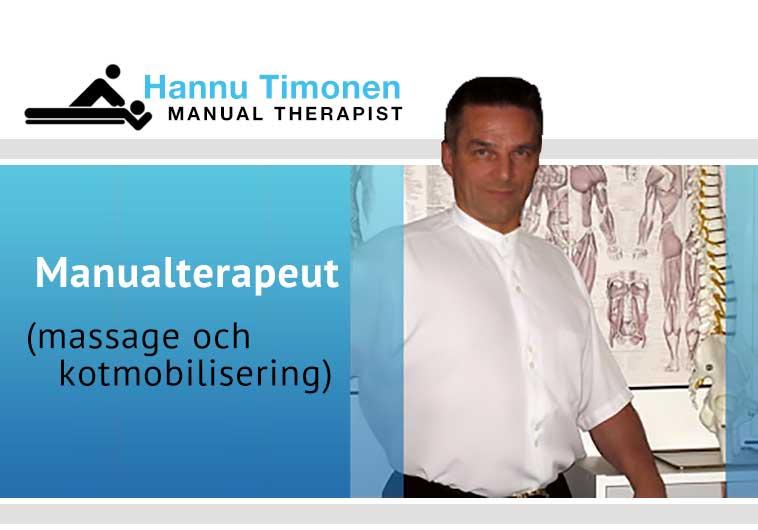 Manualterapeut - massage och kotmobilisering