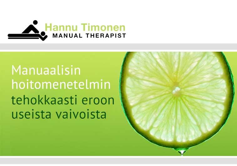 Manuaalisin hoitomenetelmin tehokkaasti eroon useista vaivoista
