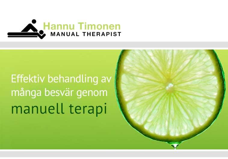 Effektiv behandling av många besvär genom manuell terapi
